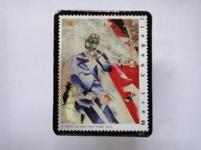 フランス 切手ブローチ1368