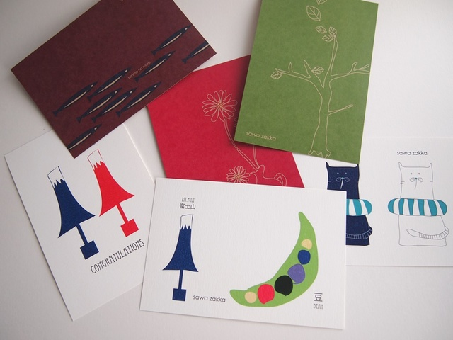 sawa zakka ポストカード 6種類セット