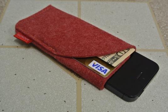 iPhone5 フェルトケース RED3