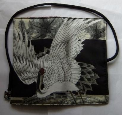着物リメイク 男の子のお宮参り着で作った和風財布 1700