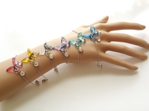 7 color  clear butterfly bracelet