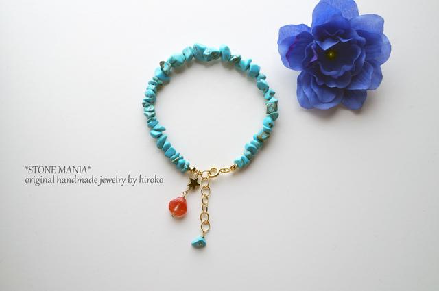?限定解除?amulet?bracelet?貝殻&星&ターコイズ?天然石ブレスレット(12月誕生石)