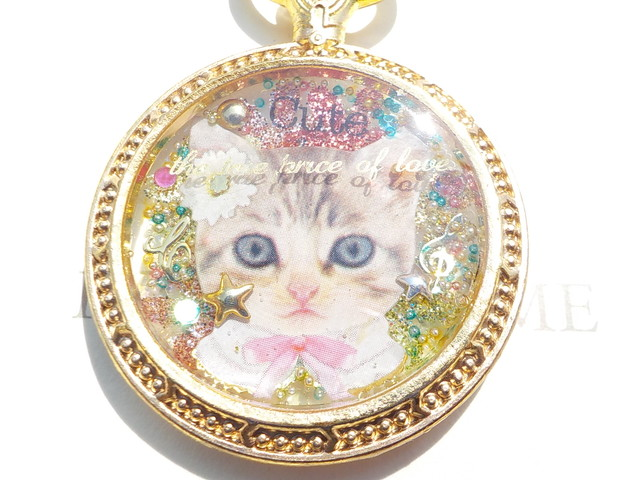 猫顔 キーホルダー