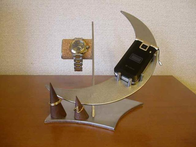 腕時計、携帯電話スタンド リング三日月スタンド