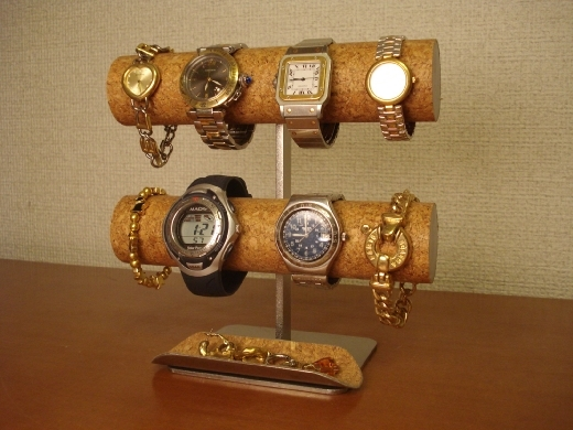 腕時計スタンド 8本掛けロングトレイ腕時計スタンド
