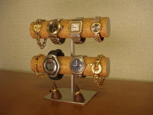 腕時計スタンド 8本掛け腕時計スタンド 指輪スタンド付き