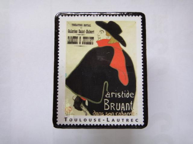 フランス 切手ブローチ1369