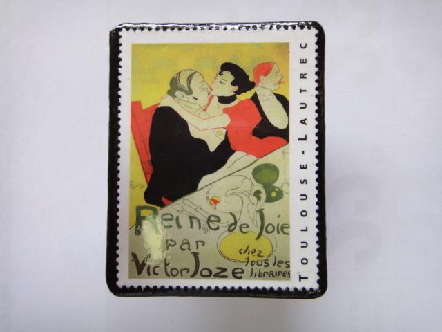 フランス 切手ブローチ1370