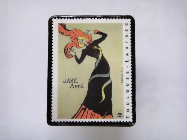 フランス 切手ブローチ1371