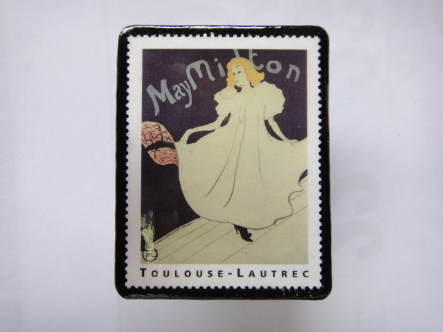 フランス 切手ブローチ1372