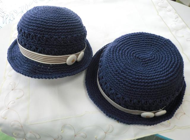 ★h様ご予約品★ ボタンチャームのマリン帽子50cm&45cm