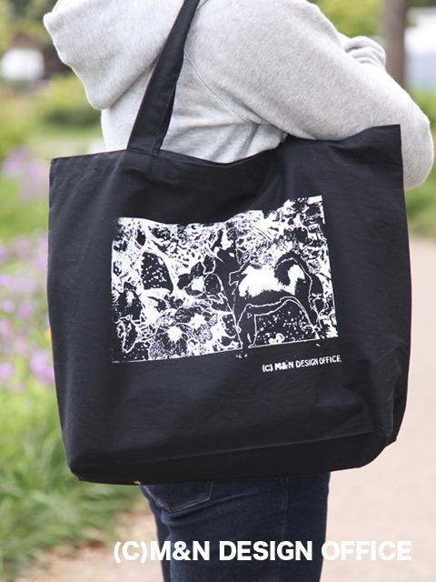 M&Nデザインオフィス オリジナルエコバッグ(柴犬と桜)