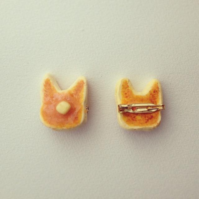 ねこパンケーキブローチ(大)...Catnap-cafe