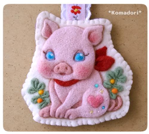 にこにこ子豚のキーホルダー
