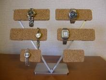 コルク10本掛け腕時計スタンド
