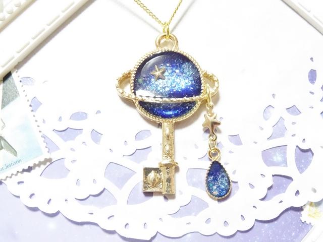☆土星と雫のネックレス☆