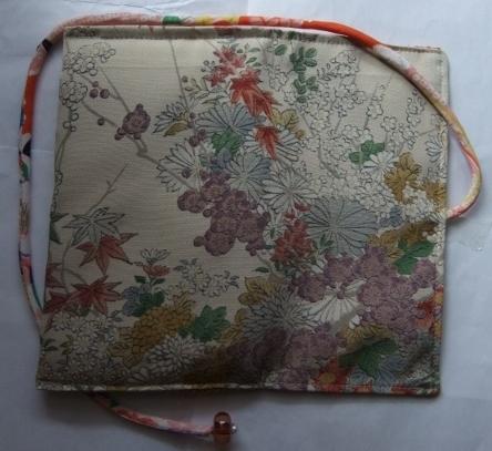 着物リメイク 花柄の訪問着で作った和風財布 1708
