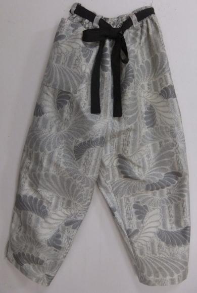 着物リメイク 色大島で作ったサブリナパンツ 1709