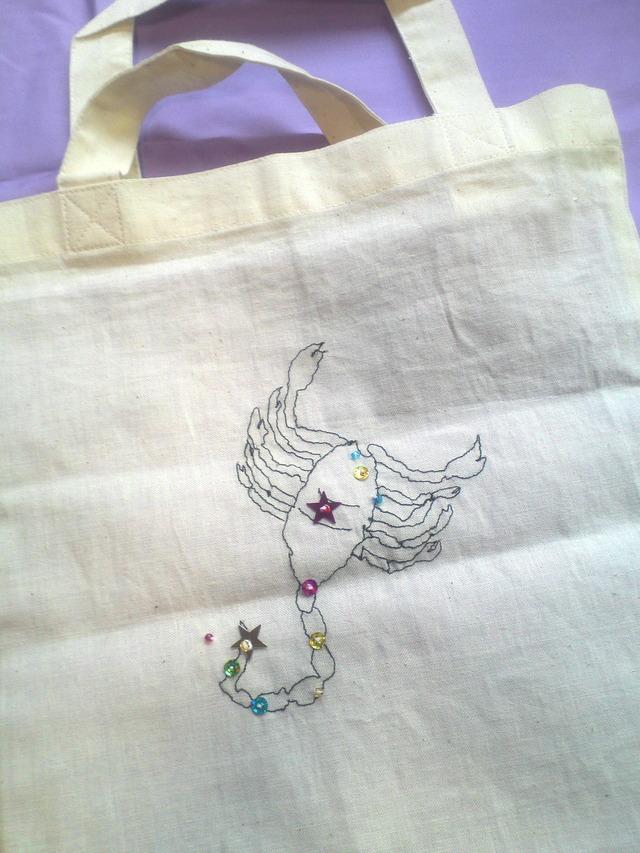 12星座の刺繍バッグ(さそり座)