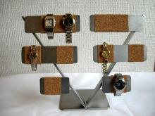 コルク10本掛け腕時計スタンドパート2