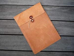 床革のマニラ封筒 A4ファイル対応