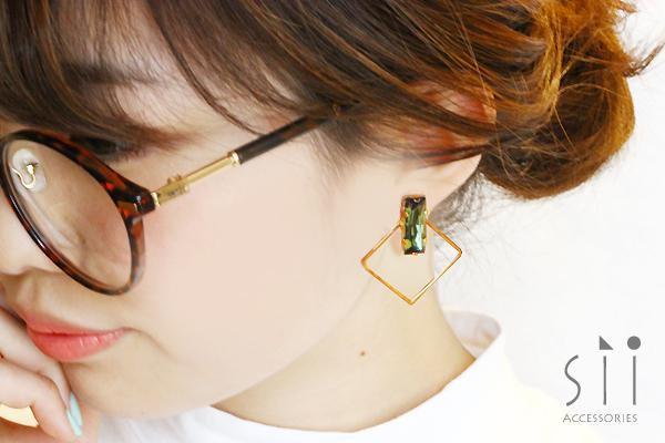 <イヤリング>bijou earring/square