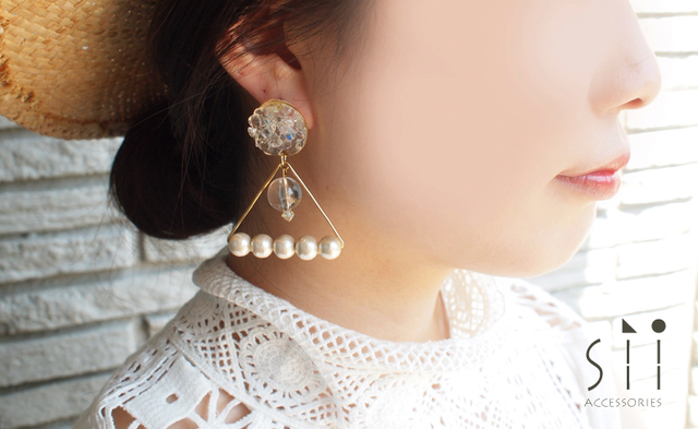 <イヤリング>drop earring/bell