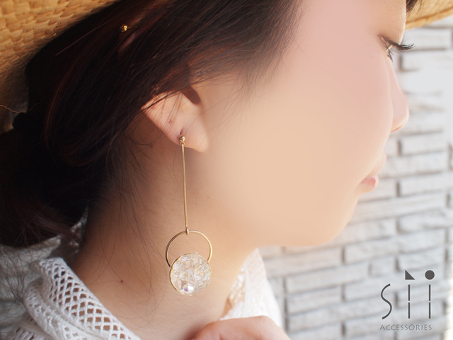 <イヤリング>drop earring/ring