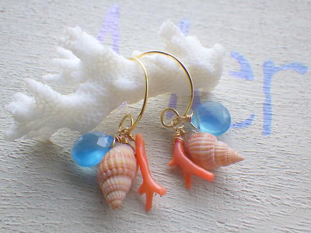 ???再販???Down By The Sea /サルディニア珊瑚&カルセドニー&ヴェルメイユ