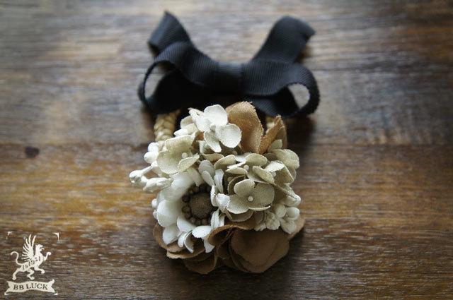 allonge���� ͽ���� �� hair tie  �� �۲֥إ����� �� hydrangea & daisy ��