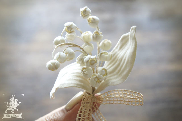corsage 【 布花コサージュ * lily of the valley 】