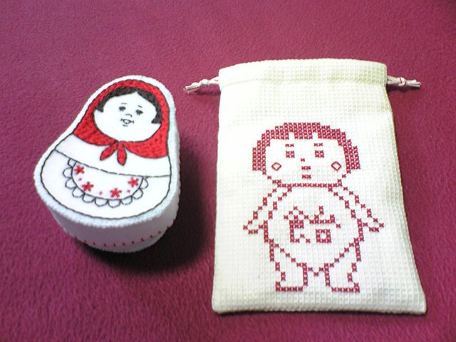 【urakira様リクエスト】マトリョーシカ布小箱&金太郎の巾着袋