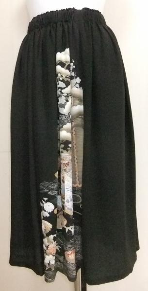 着物リメイク 泥染の色留袖で作ったスカート 1712