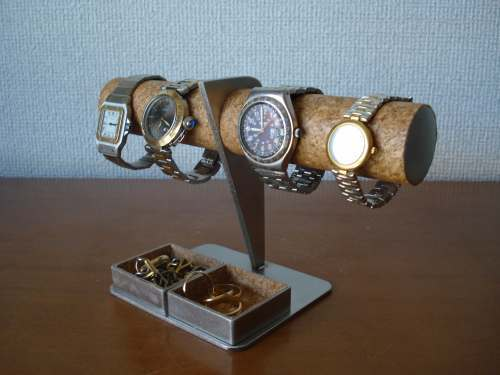 時計スタンド 4本掛け腕時計スタンドダブル角トレイバージョン