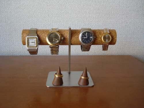 \t 腕時計スタンド 4本掛け腕時計スタンドダブル指輪スタンドバージョン