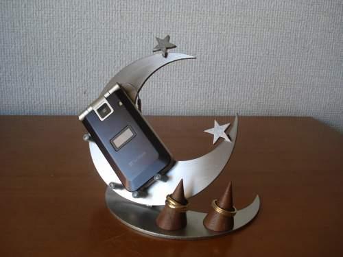 スマホスタンド ダブルムーンダブルリングスタンド付き携帯電話スタンド