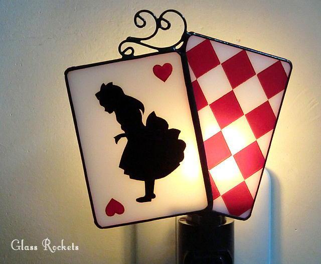 アリス  ステンドグラスナイトランプ