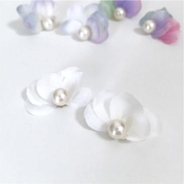little mermaid pierce/earring?petit cadeau?sea foam