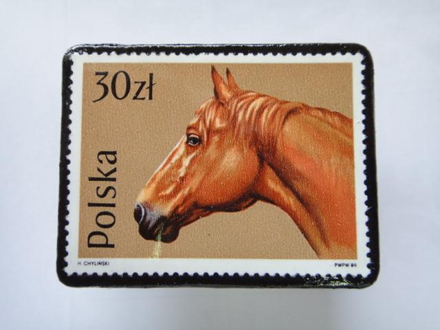 ポーランド 馬切手ブローチ1379