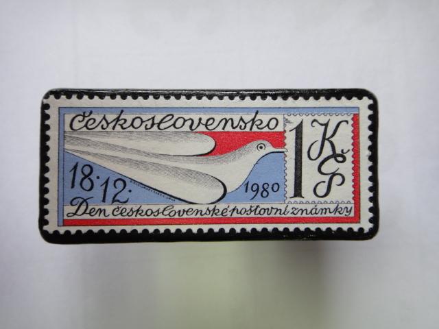 チェコスロバキア 切手ブローチ1381