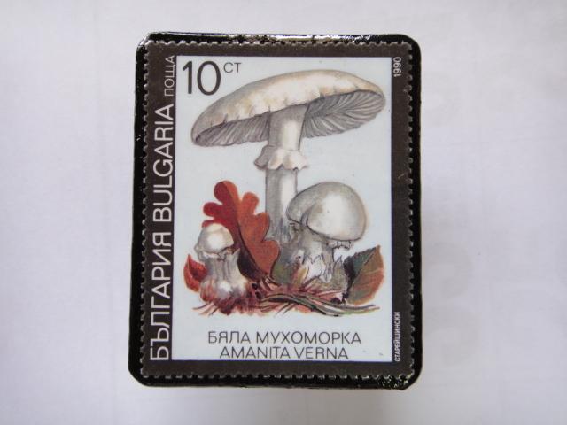 ブルガリア 切手ブローチ1385