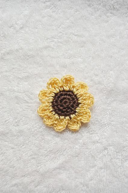 Sun flower brooch  ひまわりブローチ
