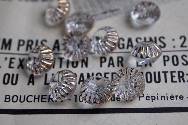 フランス 宝石みたいなガラスボタン
