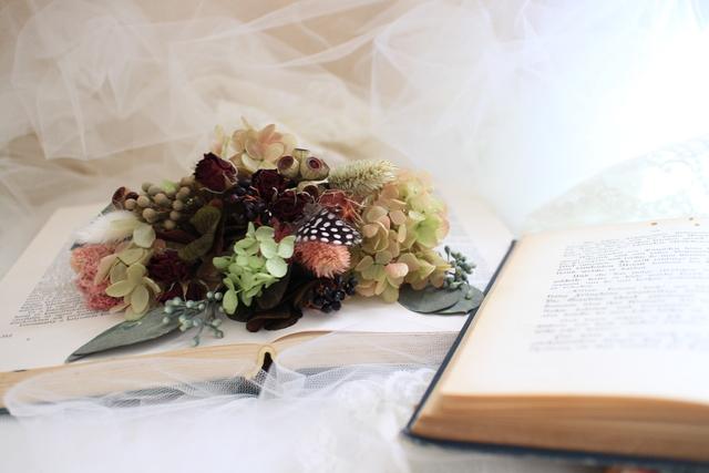 bride * head dress  #105 〔紫陽花×ブライダルヘッドドレス〕