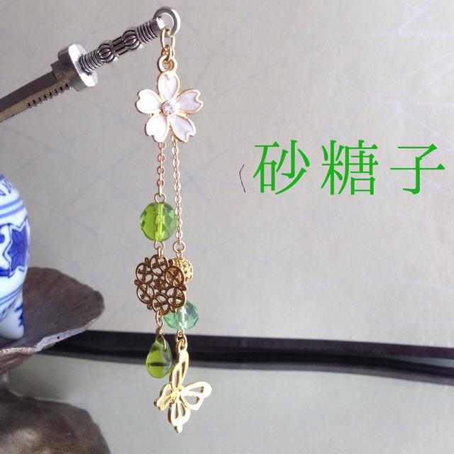 *手毬屋* 桜と蝶 かんざし