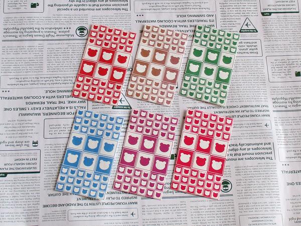 選べるポチ袋10枚(テディベアー02)