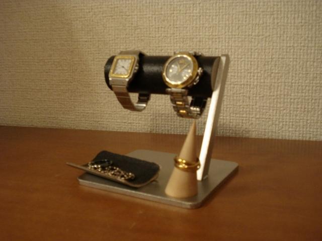 ブラック腕時計&アクセサリー収納、保管スタンド