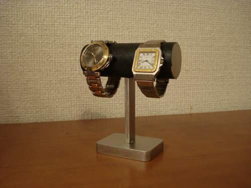腕時計スタンド ブラック2本掛けちょっと背が高い腕時計スタンド