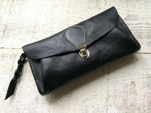 【受注製作(納期約1カ月)】長財布 「series-envelope」ブラック