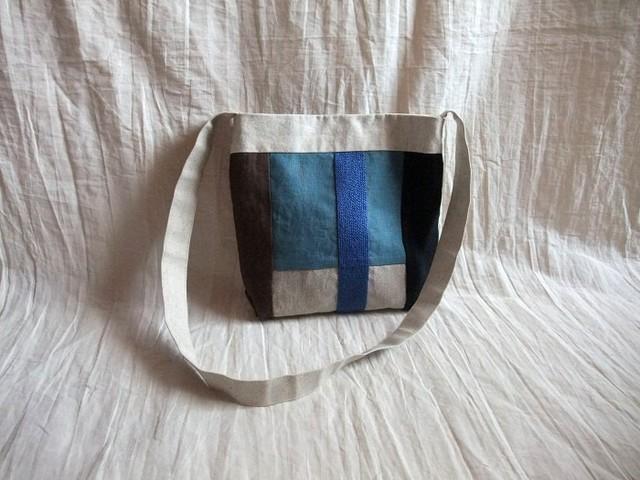 itoiro mini shoulder bag (blue)